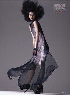 Wild thing US Elle september 2013 model: tian yi (fusion) photographer: txema yeste stylist: lori goldstein hair: peter gray make-up: cyndle komarovski (wallgroup) manicure: gina edwards (kateryan)