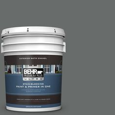 BEHR Premium Plus Ultra 5 gal. #PPU25-03 Shadows Satin Enamel Exterior Paint