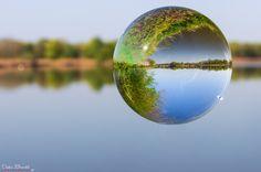 Der Inn durch eine Glaskugel... :-) by Dieter Brückl on 500px