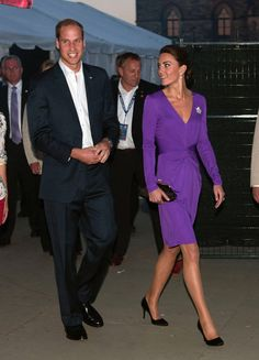 Kate looking perfect in purple with William on their USA/Canada tour