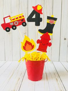 Informations About Fire Truck Birthday Party, Fire Truck, Firefighter Party Theme, Firefighter Cente Fourth Birthday, 4th Birthday Parties, Birthday Party Decorations, Fire Truck Birthday Party, Cake Birthday, Fireman Party, Firefighter Birthday, Volunteer Firefighter, Fireman Sam Cake