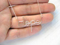 """""""Hope"""" kette Sterling Silber von Matok auf DaWanda.com"""