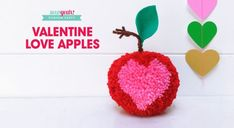 Learn How To Make This Valentine's Day Pompom! Valentine Special, Valentines For Kids, Valentine Day Cards, Valentine Gifts, Learn To Crochet, Diy Crochet, Pom Pom Animals, Valentine's Day Diy, Photo Tutorial