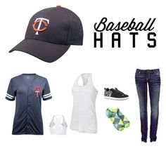 """Untitled #168"" by msmousekers ❤ liked on Polyvore featuring Champion, BKE, Xhilaration, DC Shoes, baseballcap and baseballhats"
