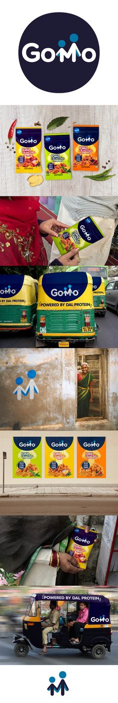 Brand creation and packaging design by Straight Forward for GoMo Dal Crunchies, a new healthy product from Mars Edge, created to improve the lives of Indian children though better nutrition. Brand Identity, Branding, Design Agency, Mars, Packaging Design, Label, Digital, Artwork Ideas, Brand Management