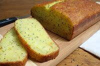 Lemon poppyseed bread   ~~ Very good!! ~~    1 box lemon cake mix  1 sm box instant lemon pudding  4 eggs  1/2 cup oil  1 cup water  2 TBS poppsyseeds    Beat 4 min on medium speed.    Add poppyseed.    Pour into 2 greased loaf pans.    Bake at 350 for 35-40min