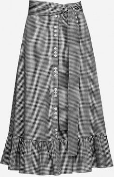 saia de vichy com amarração lateral. tendência verão skirt skirt skirt skirt outfit skirt for teens midi skirt Skirt Outfits, Chic Outfits, Pretty Outfits, Beautiful Outfits, Modest Fashion, Hijab Fashion, Fashion Dresses, Blouse And Skirt, Dress Skirt