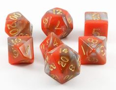 Combo Attack Dice (Orange/Brown) RPG Role Playing Game Dice Set