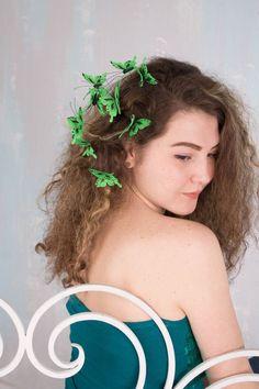 Green Butterflies Hair Pins Set Wholesale Hairpins Accessory Decoration Butterflies Hair Piece Headpiece Bridal Wedding Birthday Prom Hair by eteniren. Explore more products on http://eteniren.etsy.com