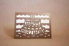 Happy Birthday Cut Paper Card // Intricate // Craft