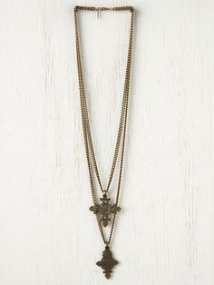 Free People Ethiopian Double Cross Necklace, $285.00