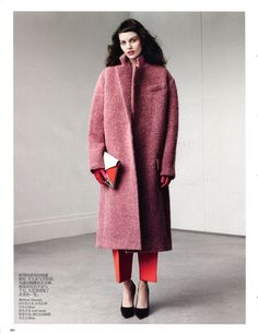 The other pink coat.