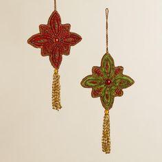 Fabric Zardozi Medallion Ornaments