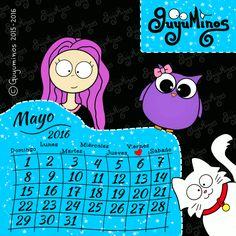 Calendario Mayo 2016 ©Guyuminos Disfruta día a día del mes de Mayo ...