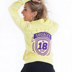 Buzos de egresados amarillo y violeta  promo 2019