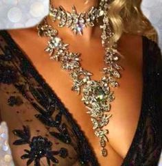 Elsa Double Drop Choker-Necklaces-Body Kandy Couture. Elsa Boho Gypsy Double Drop Choker.  Double Layer Statement Necklace with Chunky Austrian Crystals. Two Necklaces one is fitted and the other falls between the chest.   Made Upon Order   Please Allow Approx Two Weeks Production Time