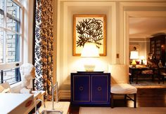 Love the look of the blue cabinet in Kate Spade's apartment?  Here's something similar...