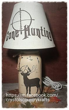 This item is unavailable Deer Lamp, Log Cabin Living, Mason Jar Projects, Outdoor Crafts, Craft Night, Mason Jar Lamp, Gift Basket, Farm House, Rustic Decor