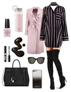 """""""Unbenannt #96"""" by lolaforever4 ❤ liked on Polyvore featuring Boohoo, Liliana, Yves Saint Laurent, MICHAEL Michael Kors, Gentle Monster, Charlotte Russe, Kate Spade and OPI"""