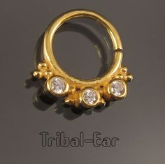 Septum Nose Ring plain Silver Gold plated Clear/Orange/Purple Zircon Piercing Septums Jewelry Tribal Ear 058