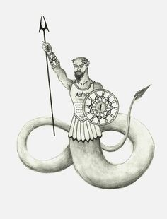 Cecrops- Greek myth: a half man half snake king of Athens. he reigned for 50 years. he had no parents and was believed to have been form from the earth.