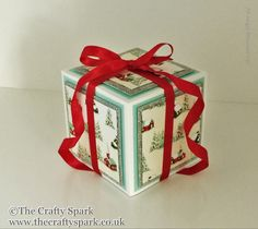 The Crafty Spark: Frozen Flurry Exploding Candle Box