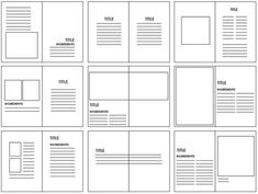 Grid structures are the layout look of where the image and body copy will be placed on what is being created. They are very important because they breakup the layout of the design so you can imaging the way you want your design to be. Editorial Design Layouts, Graphic Design Layouts, Book Design Layout, Print Layout, Page Layout, Design Posters, Web Layout, Graphic Design Magazine, Magazine Layout Design