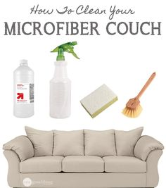 Taking the mystery out of how to clean your microfiber couches! It's easier than you think!