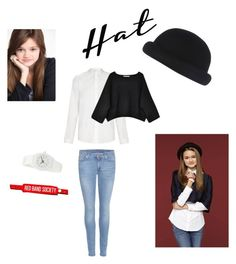 """Emma Chota(RBS) hat style - Contest"" by lucysenior ❤ liked on Polyvore featuring River Island, 7 For All Mankind, AMI, Nixon, Lauren Manoogian and hathead"