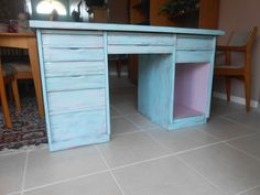 Antique Solid Wood Desk - rescued from the curb (03-02-2014) and given life (3-24-2014)!