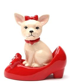 Another great find on #zulily! Chihuahua & Shoe Salt & Pepper Stacking Shakers #zulilyfinds