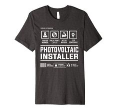 Amazon.com: Photovoltaic Solar Panel Installer Handling Information Premium T-Shirt: Clothing Best Gift For Brother, Branded T Shirts, Solar Panels, Best Gifts, T Shirts For Women, Amazon, Clothing, Mens Tops, Sun Panels