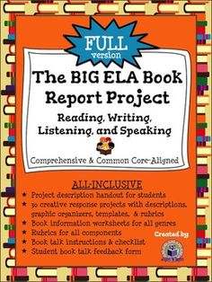 language arts book report project This pin was discovered by samantha beckman discover (and save) your own pins on pinterest.