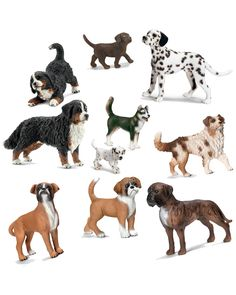 "Spotted this Schleich ""Dogs"" 10pc Toy Set on Rue La La. Shop (quickly!)."