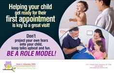 Dental anxiety can be diminished if parents act positive from the very first visit, Dr. Isharani, in Greensboro, NC can help 336.804.8668 #DentistGreensboro #PediatricDentistGreensboro