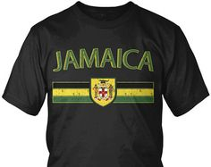Jamaican Lion Flag Dread Locks Jamaica Pride Olympics Juniors T-shirt