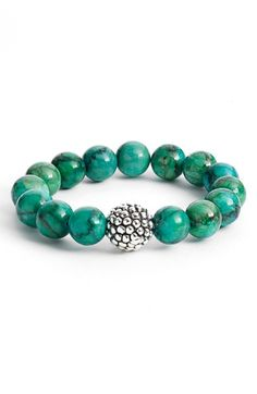 Simon Sebbag Stretch Bracelet (Nordstrom Exclusive) | Nordstrom Beaded Jewelry, Silver Jewelry, Handmade Jewelry, Turquoise Jewelry, Turquoise Bracelet, Silver Bracelets, Jewelry Bracelets, Bracelet Making, Jewelry Making