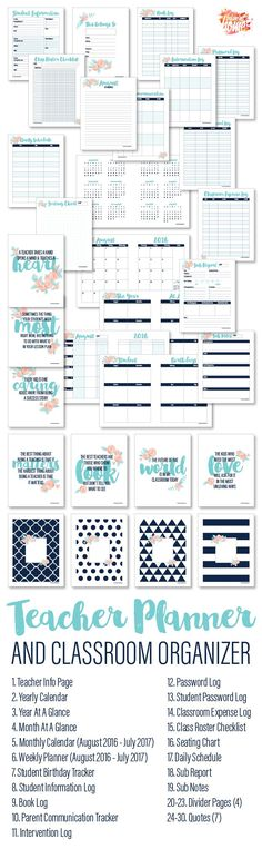 organizer Printables for teacher and classroom School Supplies Organization, Classroom Organisation, Teacher Organization, Teacher Tools, Teacher Resources, Organizing, Planner Organisation, Organized Teacher, Teachers Toolbox