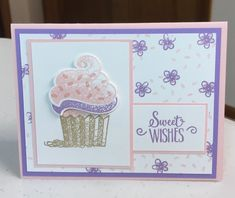 Birthday Card by Cindy Farina - Cards and Paper Crafts at Splitcoaststampers Birthday Verses For Cards, Girl Birthday Cards, Birthday Cards For Women, Handmade Birthday Cards, Cupcake Birthday, Birthday Kids, Birthday Images, Birthday Quotes, Birthday Greetings