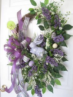 Easter Wreath Lilac Wreath Free Shipping Spring Wreath