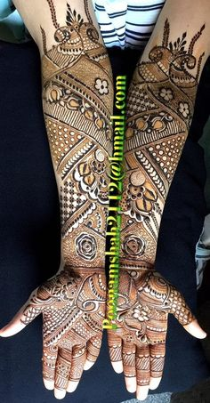 "Photo from Poonam Mehendi Artist ""Portfolio"" album Engagement Mehndi Designs, Mehndi Designs Feet, Latest Bridal Mehndi Designs, Khafif Mehndi Design, Full Hand Mehndi Designs, Henna Art Designs, Mehndi Designs For Girls, Stylish Mehndi Designs, Dulhan Mehndi Designs"