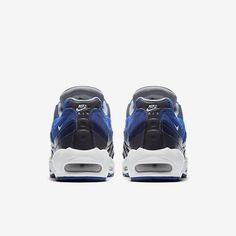 online store 9acc2 50c14 Chaussure Nike Air Max 95 Pas Cher Homme Essential Obsidienne Foncee Hyper  Cobalt Bleu Cotier Gris