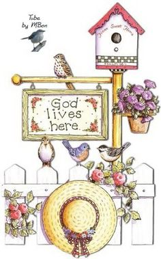 God lives here country art Tole Painting, Fabric Painting, Diy And Crafts, Arts And Crafts, Paper Crafts, Cute Clipart, Country Paintings, Decoupage Paper, Country Art