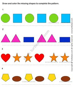 math worksheet : pattern match worksheet22  math worksheets  kindergarten  : Logic Math Worksheets
