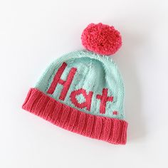 The Hat Hat beanie - Click through for the chart & free knitting pattern!