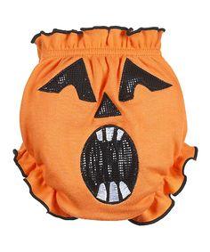Orange Jack-O-Lantern Bloomers - Infant | zulily