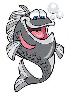 Riktoonz -- Cartoonist/Caricaturist Rick C. Fish Drawings, Cartoon Drawings, Art Drawings, Fish Cartoon Drawing, Fish Clipart, Cartoon Fish, Fish Illustration, Fish Art, Pisces