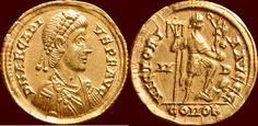 AV Solidus (395-402) Roman Empire ARCADIUS, 383-408 - Mediolanum xf +/xf