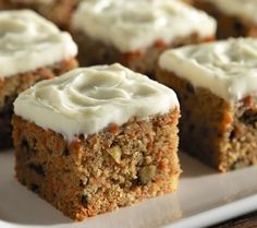 Classic Carrot Cake -- A great dessert and it has less carbs than traditional versions. Try it! DiabeticGourmet.com