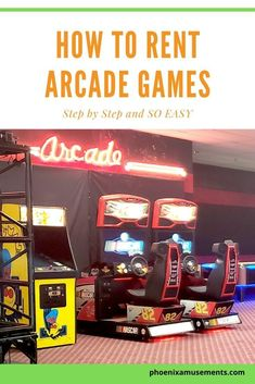 How to Rent Arcade Games with easy step by steps with no confusion on what kind of arcade machine or whether arcade will show up to your event. Football Party Games, Team Building, Building Ideas, Arcade Room, Wedding Reception Games, Arcade Machine, Old Games, Work Party, Local Events